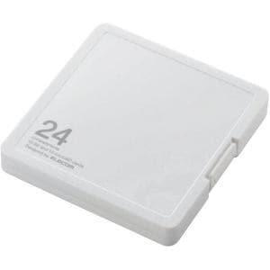 エレコム CMC-SDCPP24WH SD/microSDカードケース プラスチックタイプ ( SD:12枚 / microSD:12枚収納可能 ) ホワイト