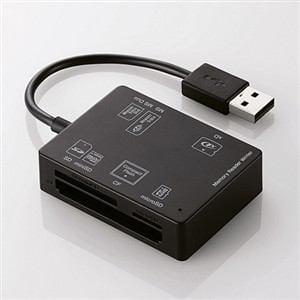 エレコム MR-A012BK 56+2メディア対応メモリリーダライタ ブラック
