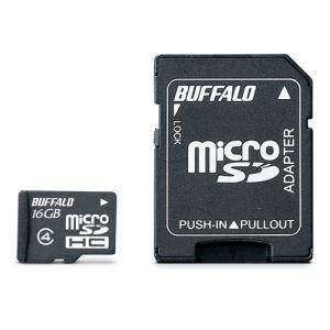 バッファロー 防水仕様 Class4対応 microSDHC SD変換アダプター付モデル 16GB RMSDYBS16A