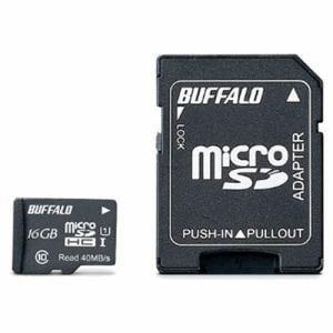 バッファロー UHS-I Class1 microSDカード SD変換アダプター付 16GB RMSDY016U1SA