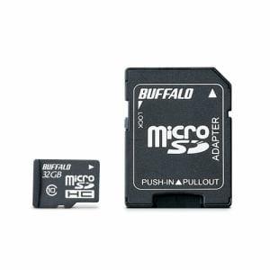 バッファロー RMSDY032U1A UHS-I Class1 microSDカード SD変換アダプター付 32GB