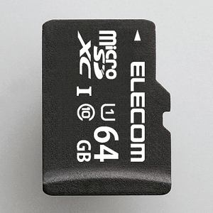 エレコム MF-DMR064GUL microSDHCメモリカード(UHS-I対応) 64GB