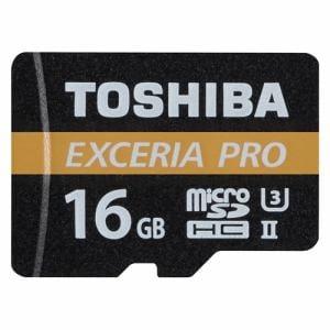 東芝 MUX-A016G microSDHCメモリカード EXCERIA PRO 16GB