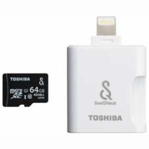 東芝 MSV-LTA64G SeeQVault対応 microSDXCメモリカード 64GB Class10 UHS-I(カードリーダ付)