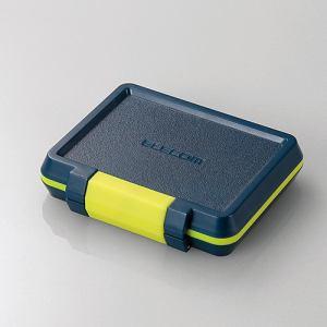 エレコム CMC-SDCHD01NV SD/microSDカードケース(耐衝撃) ネイビー