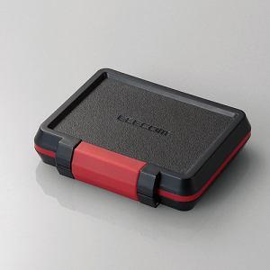 エレコム CMC-SDCHD02BK SD/microSD/XQDカードケース(耐衝撃) ブラック