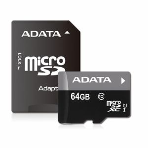 ADATA AUSDX64GUICL10-RA1 ADATA Premier マイクロSDメモリーカード MicroSDHC/XC UHS-I CLASS10 with ADAPTER カード 64GB Class10 UHS-I