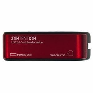 Dadandall DDSDRW0001RD USB2.0 メモリーカードリーダーライター レッド   レッド