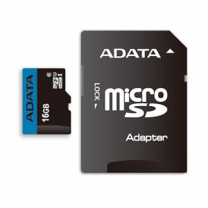 ADATA AUSDH16GUICL10RA1D MicroSDHC/XC UHS-I CLASS10 with ADAPTER カード ADATA Premier マイクロSDメモリーカード 16GB Class10 UHS-I