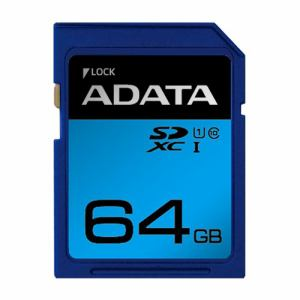 ADATA ASDX64GUICL10RD SDHC/XC UHS-I CLASS10 カード ADATA Premier SDメモリーカード 64GB Class10 UHS-I