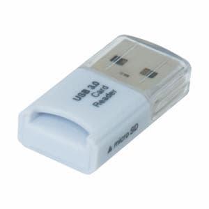 ナカバヤシ CRW-3SD64W USB3.0 microSD専用カードリーダー・ライター ホワイト