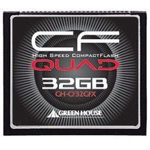 グリーンハウス GH-CF32GFX 32GBコンパクトフラッシュ