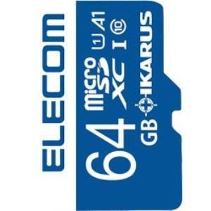 エレコム MF-MS064GU11IKA MicroSDXCメモリーカード UHS-I U1 IKARUS付/64GB