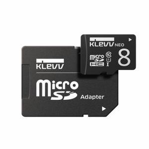 ESSENCORE DRK008GUSD3U1NAY microSDHCカード UHS-I Class10  SD変換アダプタ付属 KLEVV NEO 8GB ブラック