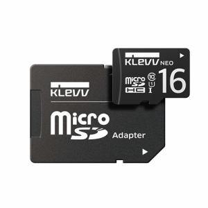 ESSENCORE DRK016GUSD3U1NAY microSDHCカード UHS-I Class10  SD変換アダプタ付属 KLEVV NEO 16GB ブラック