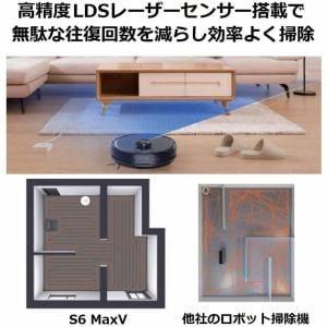 掃除機 ロボロック ロボットクリーナー Roborock S6MaxV 掃除ロボット 黒 S6V52-04