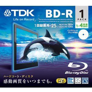 TDK 録画用BD-R追記型 1-4倍速 片面1層 25GB 1枚 BRV25PWB1A