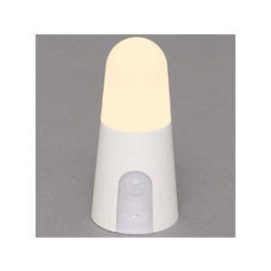 アイリスオーヤマ 乾電池式屋内センサーライト スタンドタイプ 電球色 ホワイト BSL40SL-W