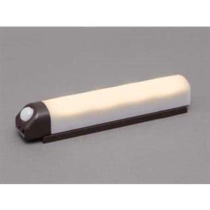アイリスオーヤマ 乾電池式屋内センサーライト ウォールタイプ 電球色 ダークブラウン BSL40WL-M