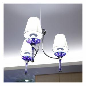 オリンピア照明 KRI003B LED照明 「MotoM」 切子3灯ペンダント 青
