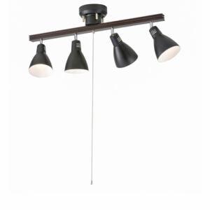 オーム電機 LT-YN40AW-K 4灯シーリングライト ブラック