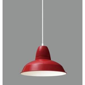 アイリスオーヤマ PL8L-E26ALC1R LEDペンダントライト LED電球セット Gammel(ギャンメル) アルミ レッド