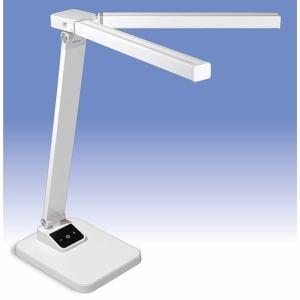 オーム電機 DS-LD65A-W LED調光式ツインセードデスクライト ホワイト