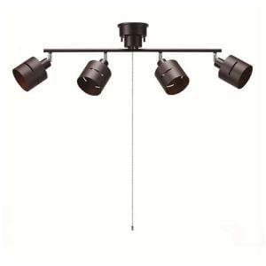 ヤザワ CEX60X01DW シーリングライト 4灯 ダークウッド
