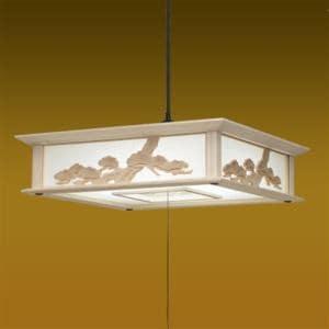 タキズミ RVM12048 LEDペンダントライト 調光 昼光色 12畳用 木製枠 彫刻飾り