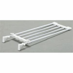 アイリスオーヤマ 伸縮棚 EST-65 ホワイト 幅65~95×奥行24×高さ5.5cm