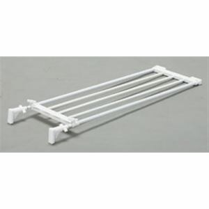 アイリスオーヤマ 伸縮棚 EST-75 ホワイト 幅75~120×奥行24×高さ5.5cm