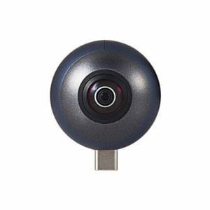エレコム OCAM-VRU01BK 360度カメラ 2K スマートフォン直挿しタイプ オムニショット ミニ ブラック