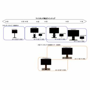YAMADASELECT(ヤマダセレクト) YTFSB4965H1T テレビスタンド 49~65インチ用 ブラウン