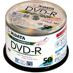 RiDATA DVD-R 16倍速 50枚組 DRCP16XSV50RDA