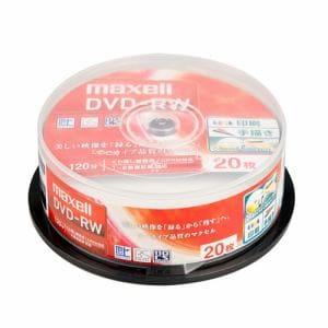 マクセル 録画用DVD-RW 標準120分 1-2倍速 ワイドプリンタブルホワイト スピンドルケース入り 20枚パック DW120WPA.20SP