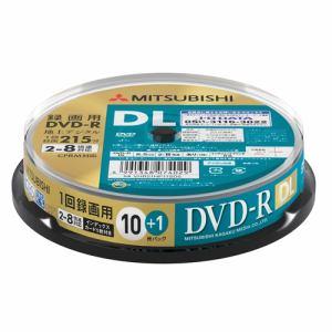 三菱ケミカルメディア VHR21HP11SD5 録画用DVD-RDL(片面2層)インクジェットプリンタ対応ワイドレーベル スピンドル11枚パック
