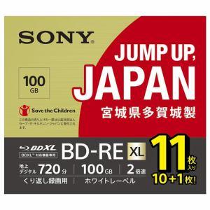 ソニー 11BNE3VNPS2 BD-RE ビデオ用ブルーレイディスク くり返し録画用 100GB 2倍速 11枚入