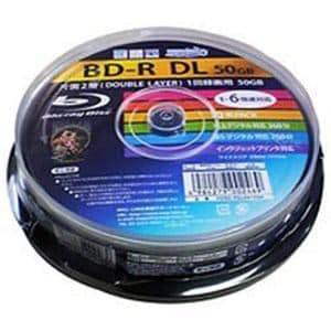 DL HIDISC 6倍速対応BD-R 10枚パック50GB ホワイトプリンタブルハイディスク HDVBR50RP10SP