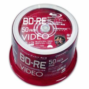 磁気研究所 VVVBRE25JP50 録画用BD-RE 50枚 /25GB /インクジェットプリンター対応
