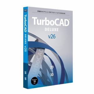 キヤノンITソリューションズ TurboCAD v26 DELUXE アカデミック 日本語版 CITS-TC26-004