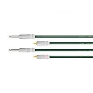 オヤイデ ラインケーブル 2本1組 (RCA-TS) 1.0m QAC-222-RTS-1.0