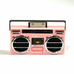 ベルソス BB5009(PK) iPod用ラジカセ型スピーカー(ピンク)   ピンク