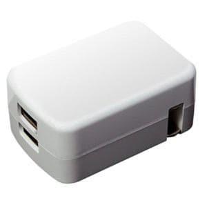 ミヨシ IPA-24U2/WH USB-ACアダプタ 2.4A対応 2ポート 白