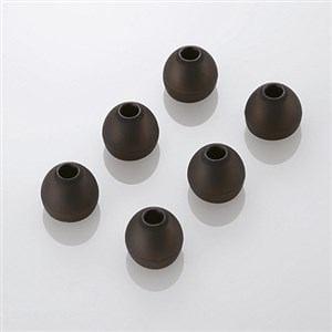 エレコム スペアイヤーキャップ ブラック Lサイズ 6個入 EHP-CAP20LBK