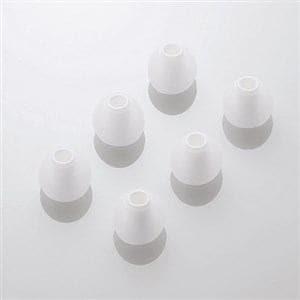 エレコム スペアイヤーキャップ ホワイト Lサイズ 6個入 EHP-CAP20LWH