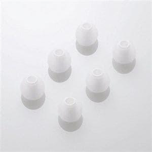 エレコム スペアイヤーキャップ ホワイト Mサイズ 6個入 EHP-CAP20MWH