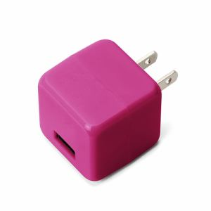 PGA USB電源アダプタ 1ポート 2.1A キューブタイプ ピンク PGUAC21A04PKPK