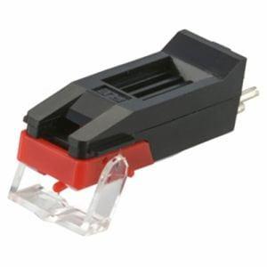 オーム電機 RDP-B001N レコード交換針 3本組(黒・赤)