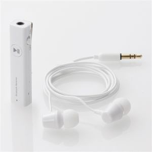 エレコム LBT-PHP02AVWH ステレオヘッドホン付きマイク搭載Bluetoothレシーバー ホワイト