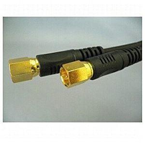 富士パーツ アンテナケーブル1m接栓-接栓黒 FBT110